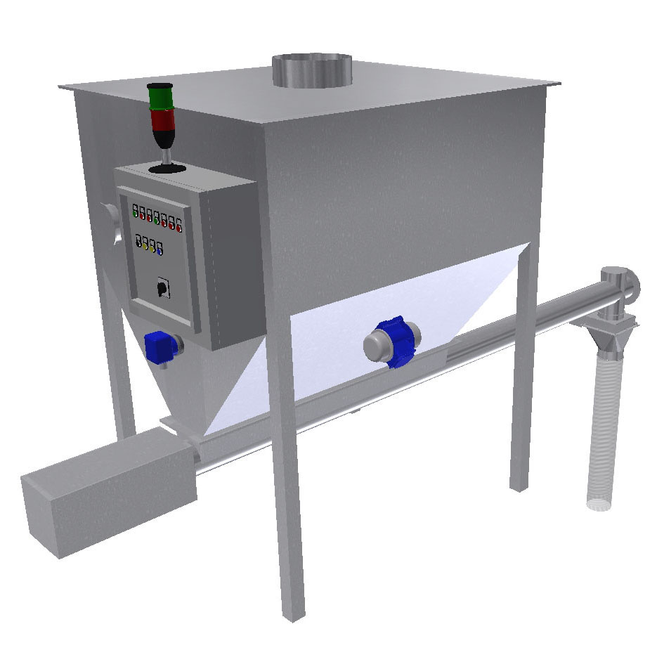 Compact dry- dosing system